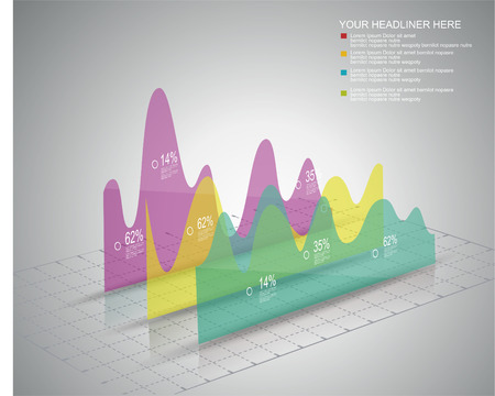 Modern box Design Minimal style infographic template Illustration