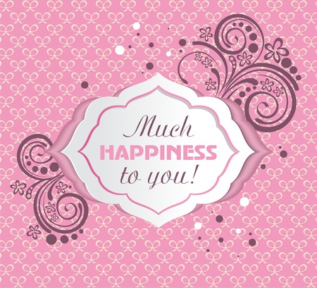Happy Mothers day or Happy Birthday card. Vector