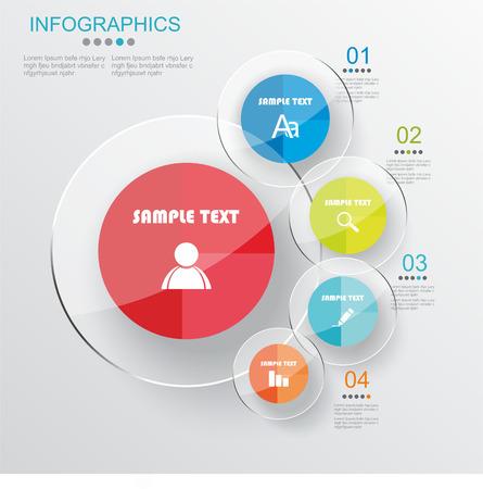 ベクトルのインフォ グラフィックや web のデザイン テンプレート  イラスト・ベクター素材