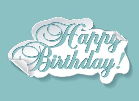 rejoicing: illustrazione della carta di compleanno Vettoriali