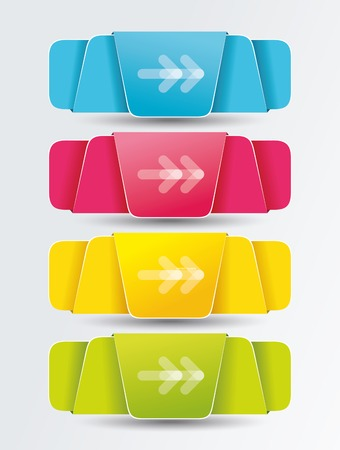 your text here: Colorful polygonal origami ribbons. Place your text here