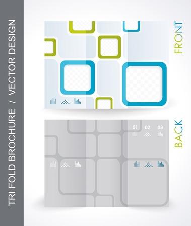 mock up: Tri-Fold Travel Mock up & Brochure Design. Vector.