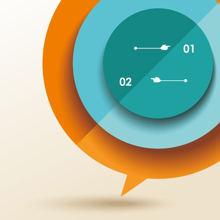 folded paper: color speech bubble from folded paper, vector