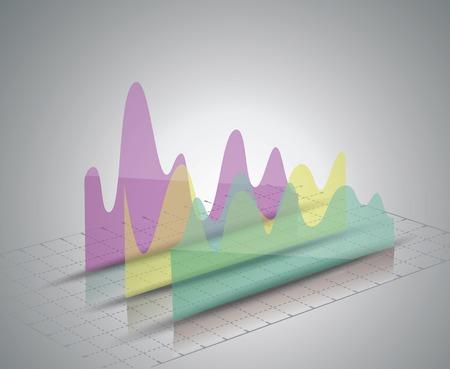 minimal style: Modern box Design Minimal style infographic template Illustration