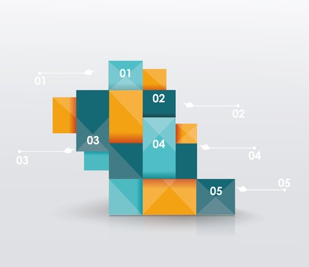 step up: Business Infographics polygonal design style. Can be used for workflow layout, diagram, number options, step up options, web design.