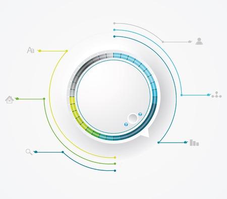 Round preloading progress bar  Business Infographics circle style