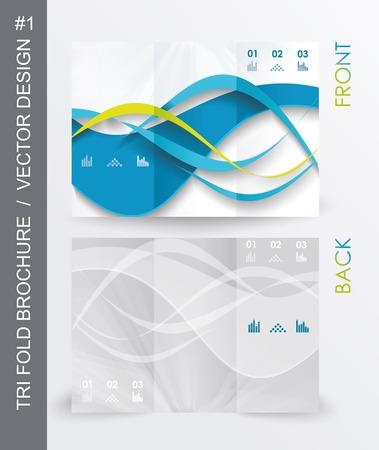 tri fold: tri fold business brochure template, vector