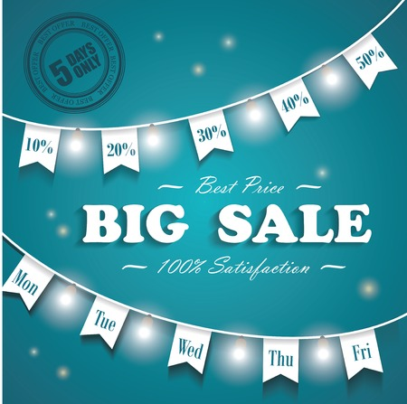 last chance: Big Sale poster. Last chance, 5 days sale only design template.