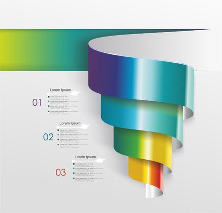 espiral: Diseño moderno de la bandera de caracol. Puede ser utilizado para el diseño del flujo de trabajo, diagrama, opciones numéricas, diseño de páginas web. Vectores