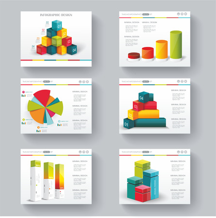 slide: Presentation slide templates for your business with infographics and diagram set Illustration
