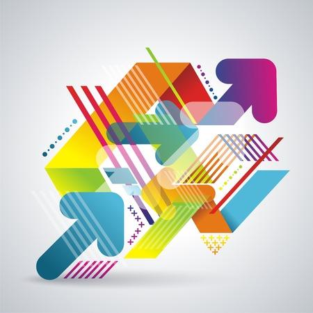 ベクトル モダンな幾何学的な抽象的な背景