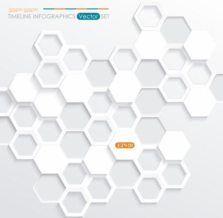 random pattern: Hexagonal abstract 3d background, vector illustration Illustration