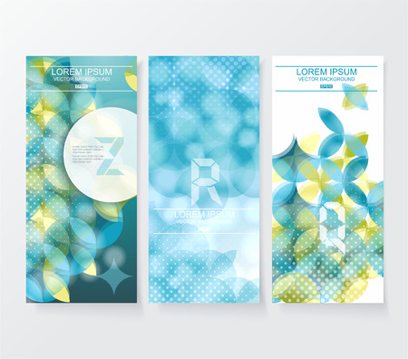 pattern of geometric shapes: Banners with pattern of geometric shapes. Geometric background.