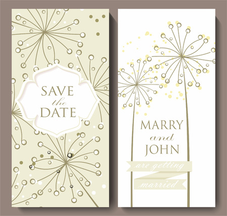 provence: Marriage invitation card with flower background. Vector illustration. Illustration