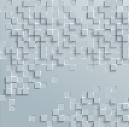 Vector Abstract geometric shape from gray cubes. White squares Ilustrace