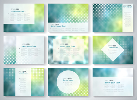 magazine template: Cover set for  Brochure, Magazine, Flyer,  vector template