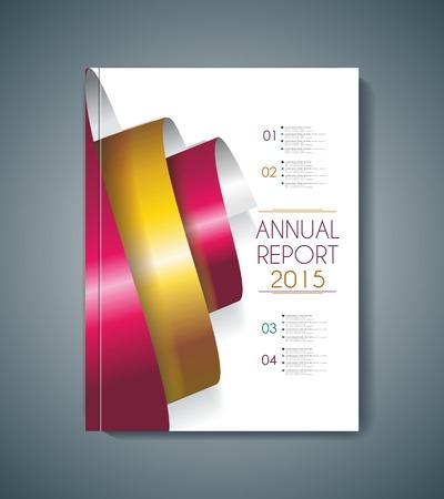 espiral: elementos de diseño de la cubierta del folleto en espiral, la plantilla de vectores Vectores
