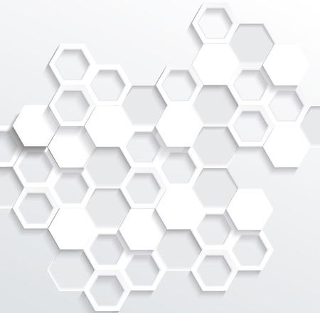 Hexagonal abstract 3d background, vector illustration 일러스트