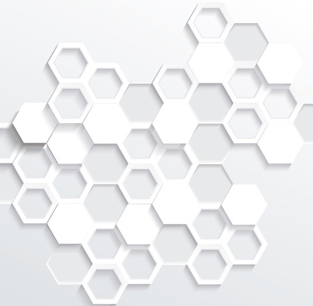Hexagonal abstract 3d background, vector illustration Ilustração