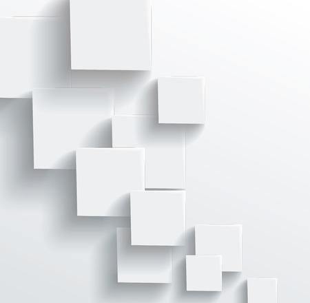 ベクトル グレー キューブから抽象的な幾何学的形。白い四角