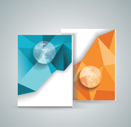 parallelepiped: Magazine cover with pattern of geometric shapes and transparent bubbles