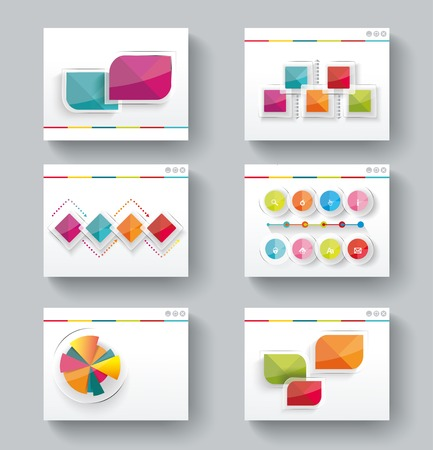 office presentation: Presentation slide templates for your business with infographics and diagram set Illustration