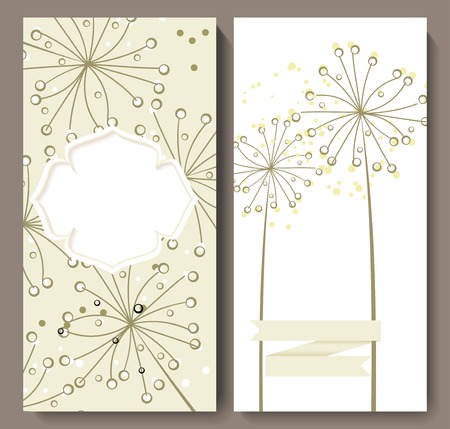 marriage invitation: Marriage invitation card with flower background. Vector illustration. Illustration