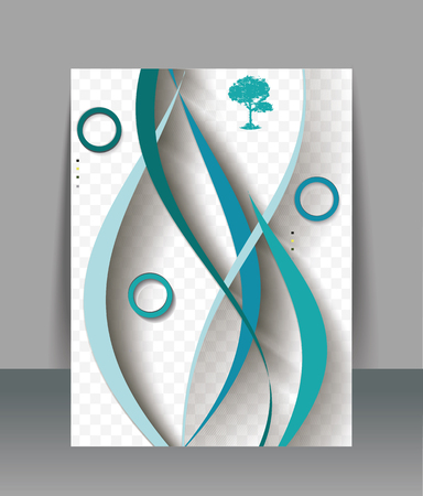 abstract waves background: Brochure design template with abstract waves background, vector Illustration