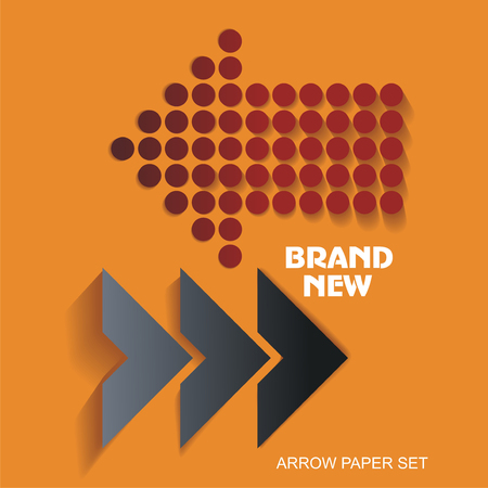 brand new: Brand New stickers and tags, paper arrows