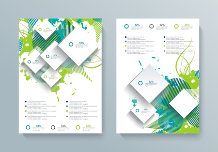 Vector brochure, flyer, magazine cover, poster template 向量圖像
