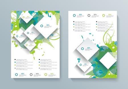 Vector brochure, folder, magazine cover, affichemalplaatje