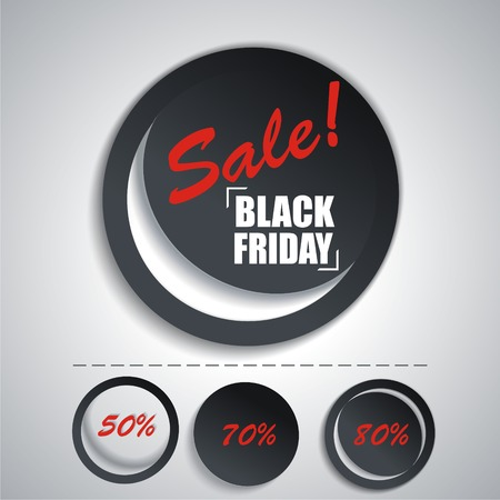 new arrivals: Black Friday sales tag. Set SALE stickers for your design.