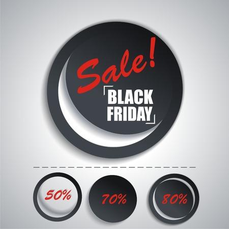 arrivals: Black Friday sales tag. Set SALE stickers for your design.