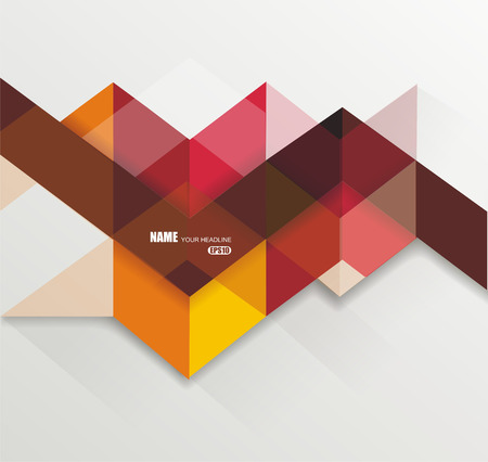 robins: Bright geometrical abstract lines structure. illustration