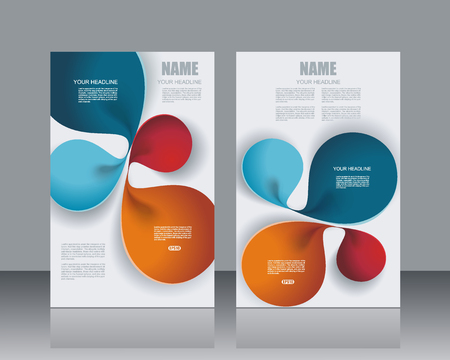 notebook cover: Banners template design with abstract lines structure.