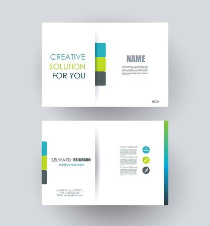 hojas membretadas: Diseño tarjetas de visita. Vectores