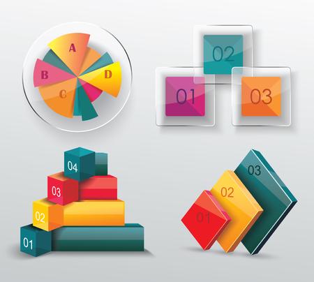 grafica de barras: Infografía modernos establecen. Diagrama y línea del tiempo de diseño. Vector
