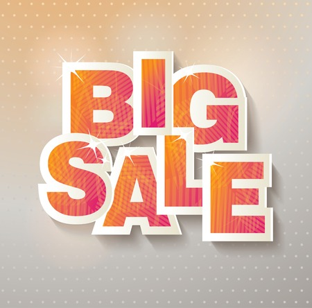 advertisement: Big sale banner. Sale and discounts. Vector illustration