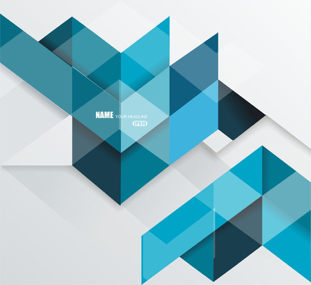 Blue geometrical abstract lines structure. Vector illustration