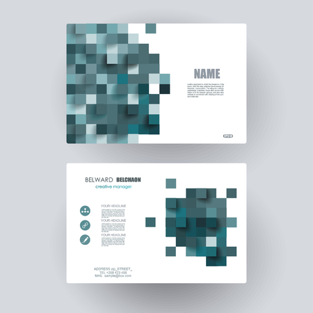 box design: Business cards Design.  Vector Template layout. Illustration