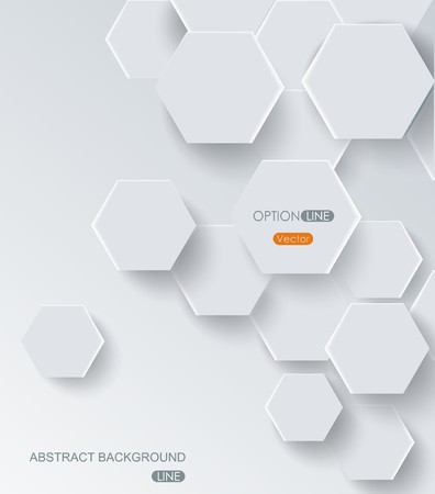 Modern vector abstract hexagon background. Illustration
