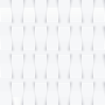 Abstract 3d white geometric background. White texture with shadow. Simple clean white background texture. 3D Vector interior wall panel pattern.