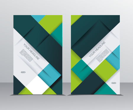 folds: Vector brochure template design with cubes and  translucent folds elements.