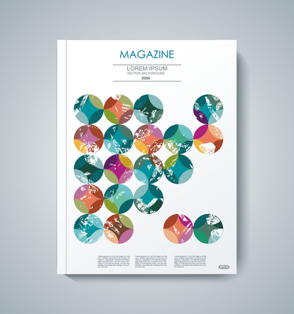 business marketing: Vector design of Magazine Cover Annual Report, Flyer Poster.