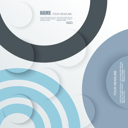 circles: Vector Design - Circles Background. Illustration