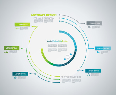 chronological: Minimal Timeline Infographic design. Can be used for workflow layout; diagram; number options; web design.