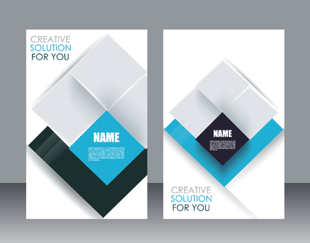 translucent: Vector brochure template design with cubes and translucent folds elements. Illustration