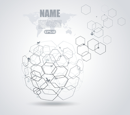 internet symbol: Networks -abstract globe symbol,  internet and social network concept. Illustration