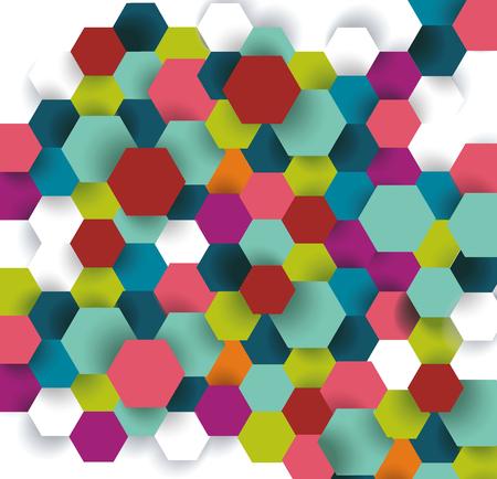 Conception de communication de technologie abstraite avec hexagones.