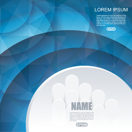 Abstract background with blue circles, vector illustration.